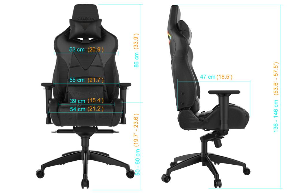 Marvelous Gamdias Achilles M1 Rgb Gaming Chair Black Blue Newegg Com Machost Co Dining Chair Design Ideas Machostcouk