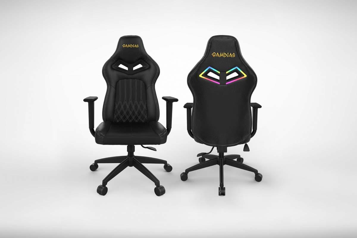 Gamdias Achilles E3 Rgb Gaming Chair White Thread