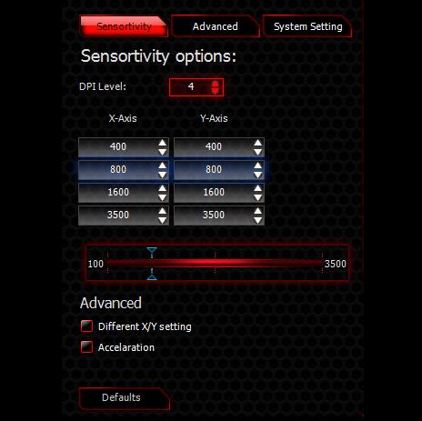 MSI Interceptor USB Wired Laser 3500