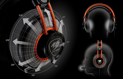 5f4089ba90d COUGAR IMMERSA Stereo Over Ear Gaming Headset for PC, Xbox One, and ...