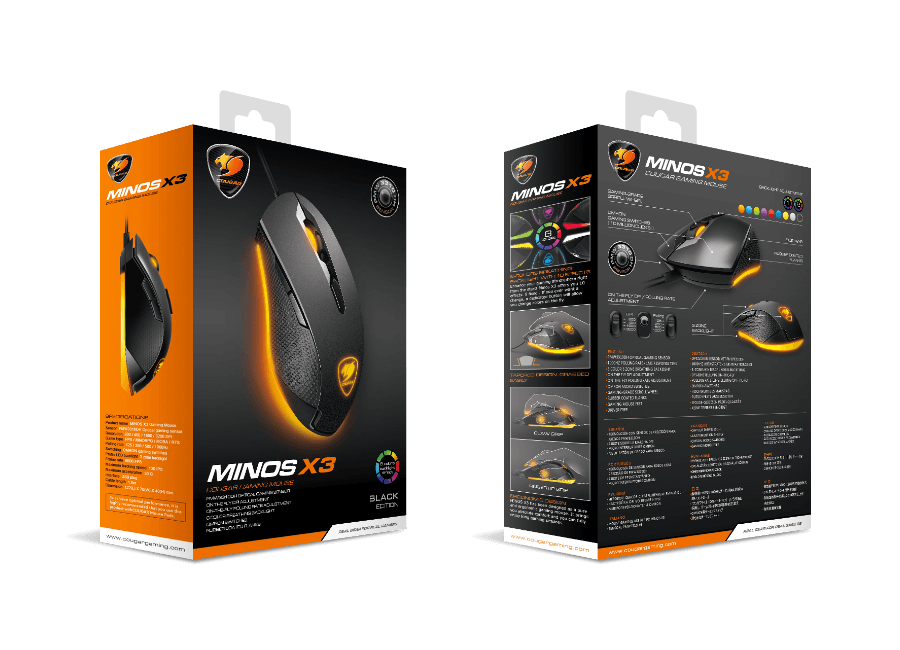 0b6eb655fba Cougar Minos X3 Multicolor Gaming Mouse - Newegg.com
