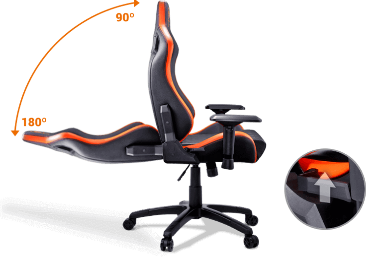 Cougar Armor S Orange Luxury Gaming Chair With