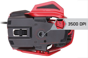 Mad Catz R.A.T. 3 Gaming Mouse - Gaming-grade 3500 DPI Laser