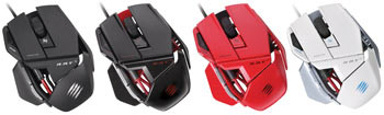 Mad Catz R.A.T. 3 Gaming Mouse - Available in Four Colors