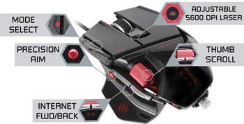 5a62bcbb6e4 Mad Catz R.A.T.5 Gaming Mouse for PC and Mac - Gloss Black - Newegg.ca