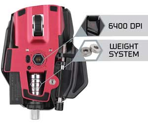Mad Catz R.A.T. 9 Wireless Gaming Mouse - True 6400 DPI Laser Sensor