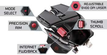 Mad Catz R.A.T. 9 Wireless Gaming Mouse - Precision Aim Mode