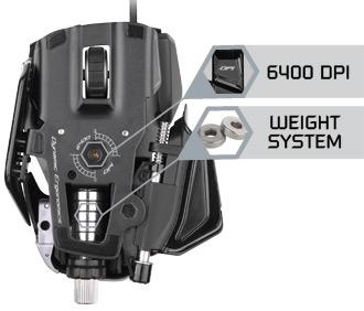 Mad Catz M.M.O. 7 Gaming Mouse - True 6400 DPI 'Twin-Eye' Laser Sensor with 4 Custom Settings