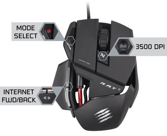 Mad Catz R.A.T. 3 Gaming Mouse - Take Control of Your Games