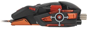 Mad Catz M.M.O. 7 Gaming Mouse - Unique 5D Button Enables 5 Commands with a Single Control