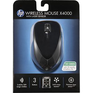 a79cdc49420 HP x4000 A0X35AA#ABA Black RF Wireless Laser Mouse - Newegg.com