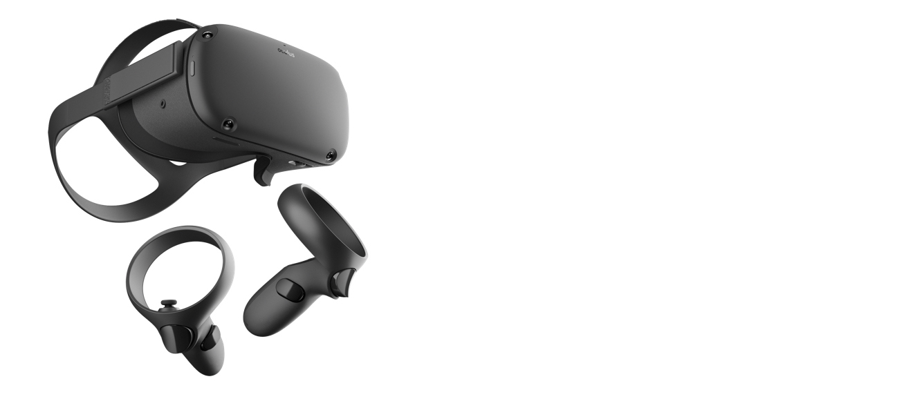 Oculus Rift S Gear Angled to the Right
