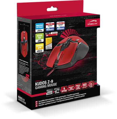Speedlink KUDOS Z-9 Gaming Mouse, red