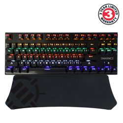 ENHANCE Gaming Keyboard Wrist Rest for Tenkeyless Keyboards w// Ergonomic Support