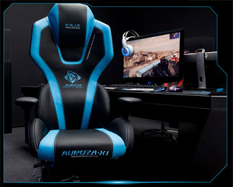 E Blue Pc Gaming Chair Auroza Gaming Chair Blue Newegg Ca