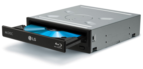 LG 12X Blu-ray Disc Drive with 3D Playback & M-DISC Support UH12NS40