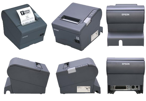 No Power Supply Dark Gray Epson TM-T88V Thermal Receipt Printer Renewed Powered USB and USB
