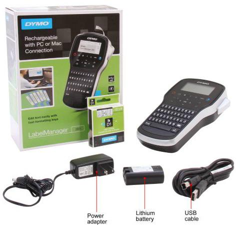 dymo labelmanager 280 1815990 rechargeable handheld label maker. Black Bedroom Furniture Sets. Home Design Ideas
