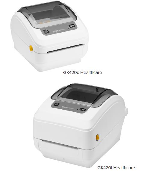 """Zebra GK420t Healthcare 4"""" Desktop Thermal Transfer Label Printer, 203 dpi,  USB, Ethernet, EPL, ZPLII - GK4H-102210-000 - Newegg com"""