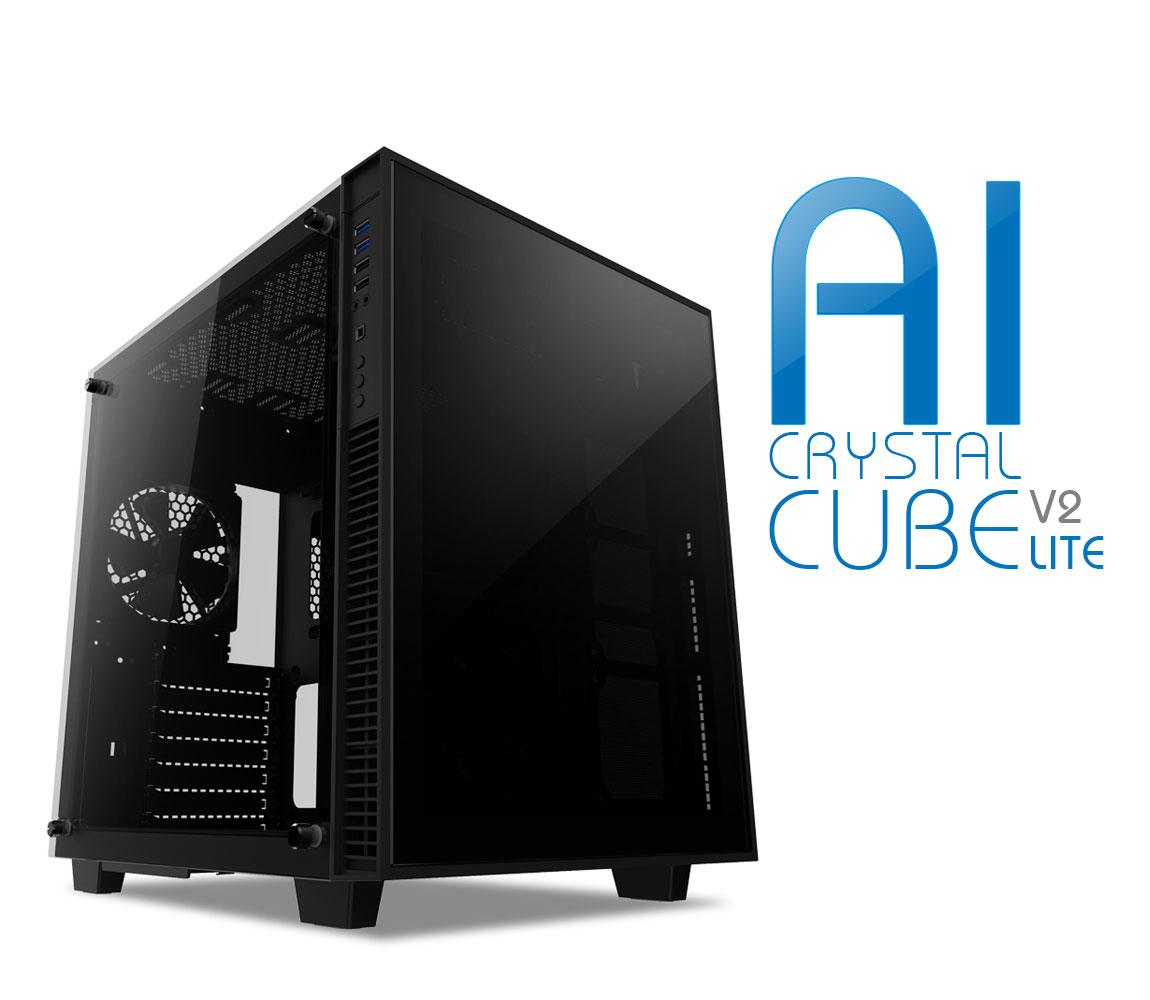 anidees AI Crystal Cube V2 Dual Chamber Tempered Glass EATX /ATX PC Gaming  Case Lite version - Black AI-CL-Cube-Lite2 - Newegg com