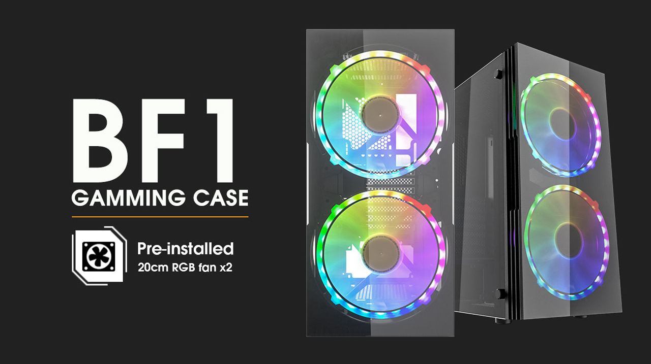 darkFlash BF1 ATX Mid Tower Gaming Tempered Glass Panel Window Computer