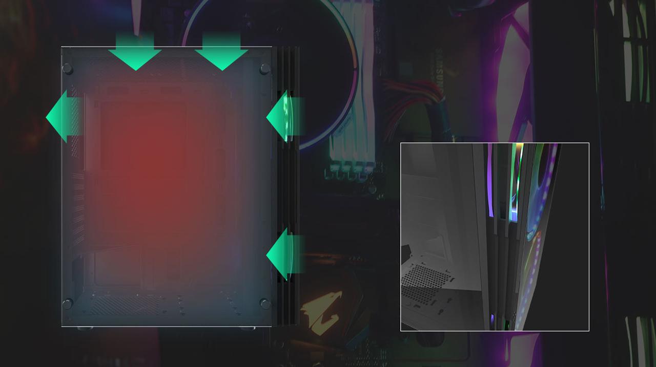 darkFlash GALE DF140 Black ATX Mid Tower Gaming Computer Case