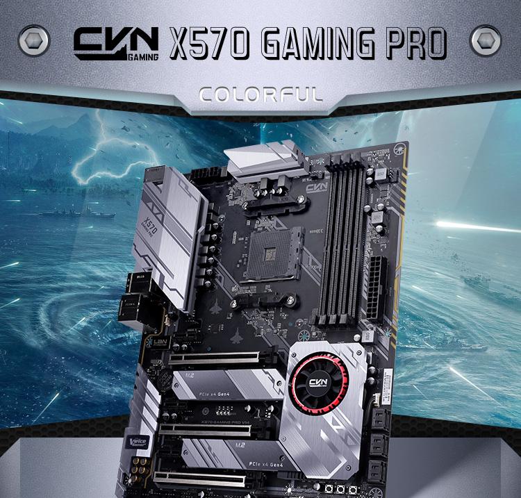 Colorful X570M Gaming PRO V14 Gaming Motherboard AMD AM4 SATA 6Gb//s M.2 USB 3.1 Gen 2 HDMI DP Micro ATX