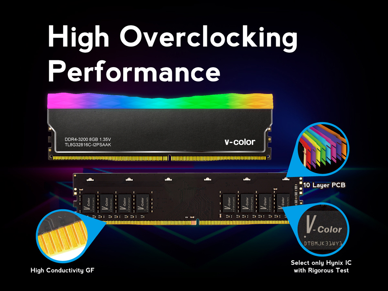v-color Prism Plus RGB DDR4 Desktop Memory Ram