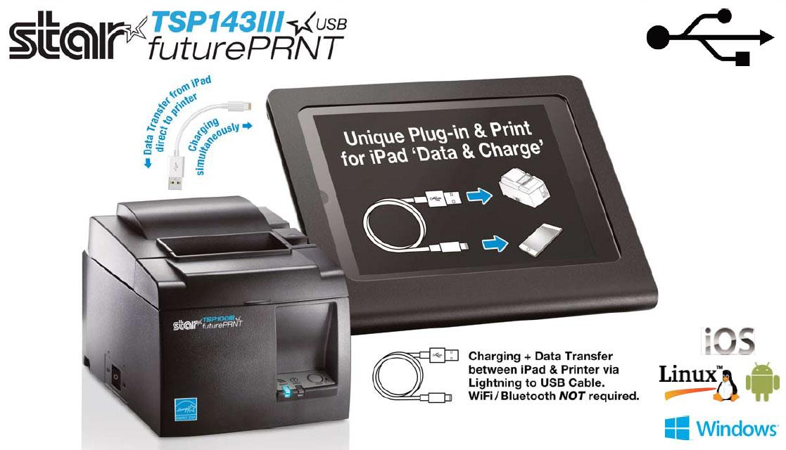 TSP100III, Thermal, Cutter, USB, Lightning, Gray, USB Cable, Int PS -  Newegg com