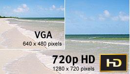 Shoot brilliant 720p HD video