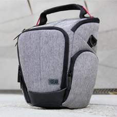 USA GEAR UTL Camera Case Bag with Smooth Streamlined Shape, Soft Cushioned Interior and Side Storage Pockets