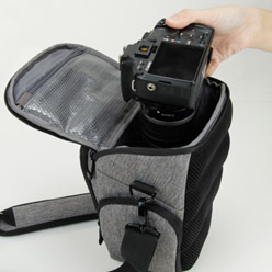 USA GEAR UTX DSLR Camera Case with Weather Resistant Bottom, Soft Cushioned Interior and Side Lens Storage Pockets