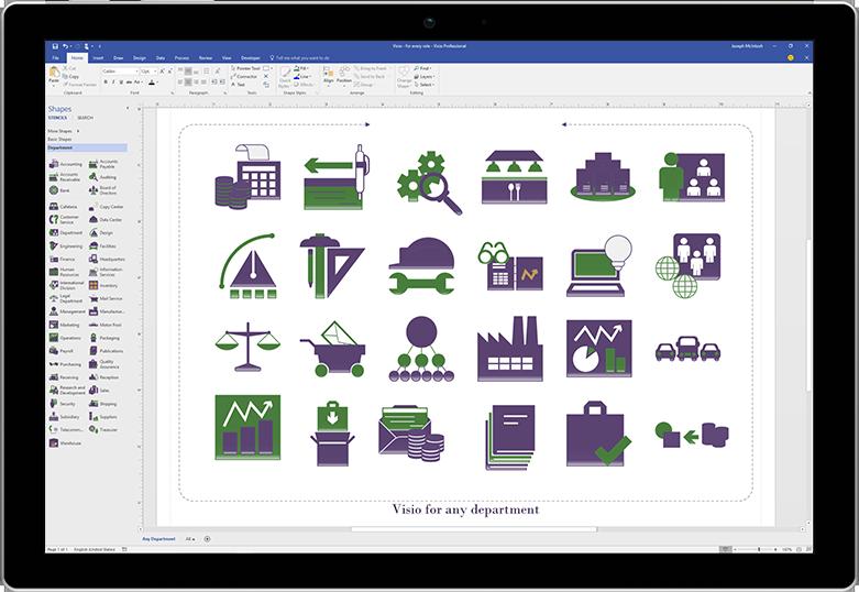 Microsoft Visio Standard 2019 / Windows 10 Product Key Card - 1 PC -  Newegg com