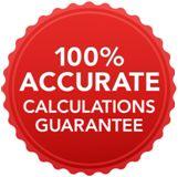 100% accurate calculations guarantee