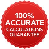 100% accurate calculations guarantee