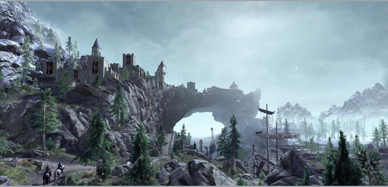 a picture of the world of western skyrim