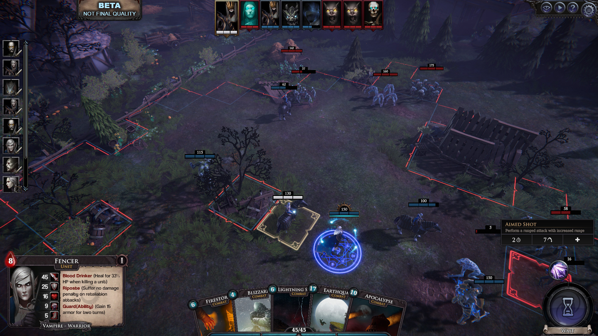 screenshot3 for Immortal Realms: Vampire Wars showing a battle scene