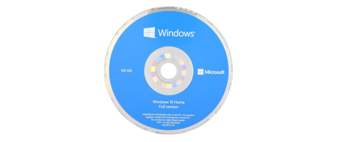 Windows 10 Home 64-Bit Installation Disc