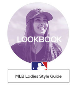 A Woman Wearing an MLB Team Hat and Text That Reads: MLB Ladies Style Guide