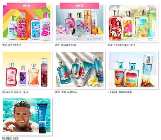 Variety of fragrances