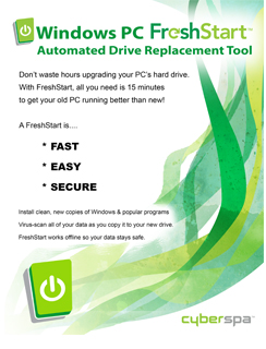 FreshStart Automated Drive Replacement Tool Product