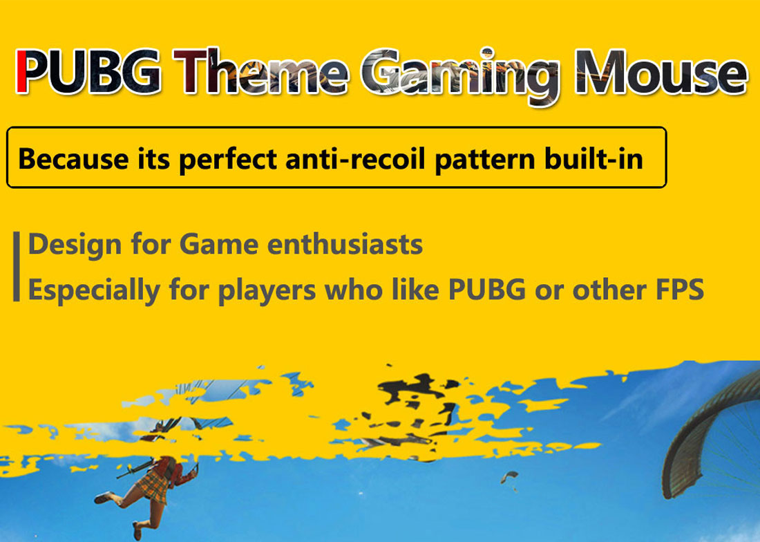 PUBG Theme Gaming Mouse