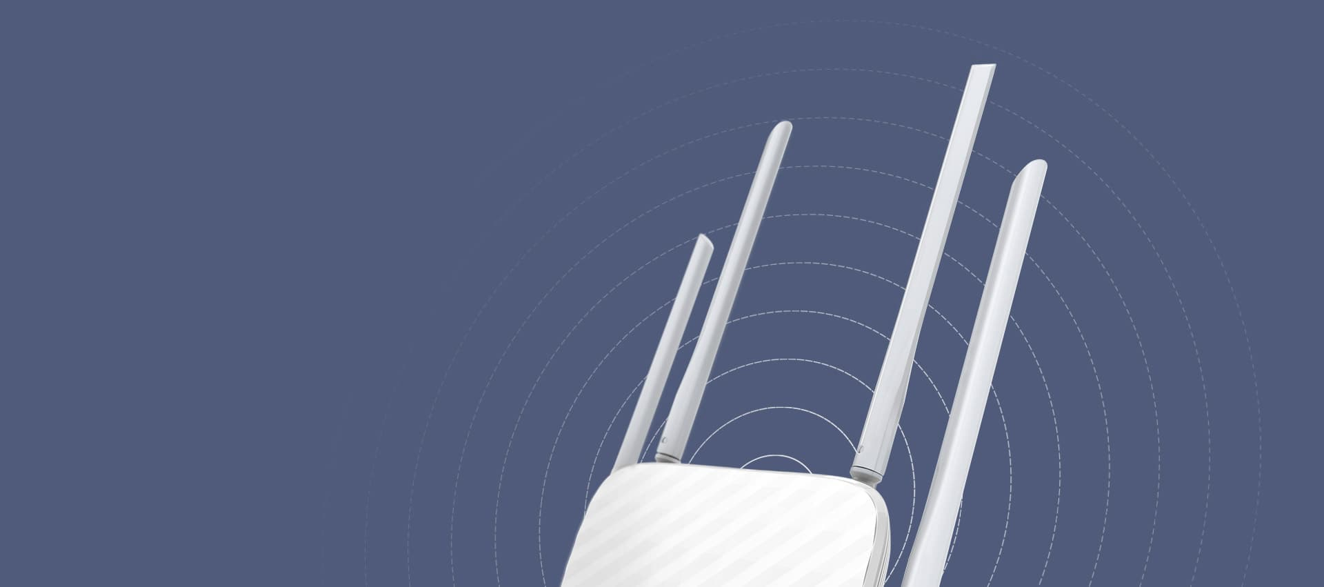 closeup of the tp-link archer c50 antennas