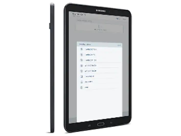 Side Profile and Right-Angled Shot of the Samsung Galaxy Tab A