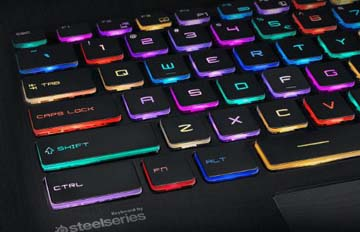 PER-KEY RGB GAMING KEYBOARD BY STEELSERIES—EVERY MOMENT SHINES