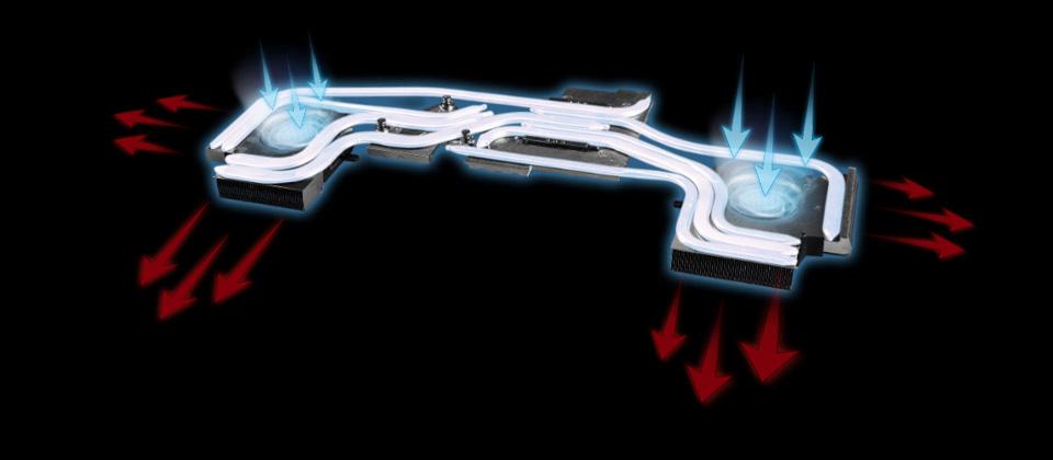 Gigabyte GE75 Raider Gaming Laptop's cooling system