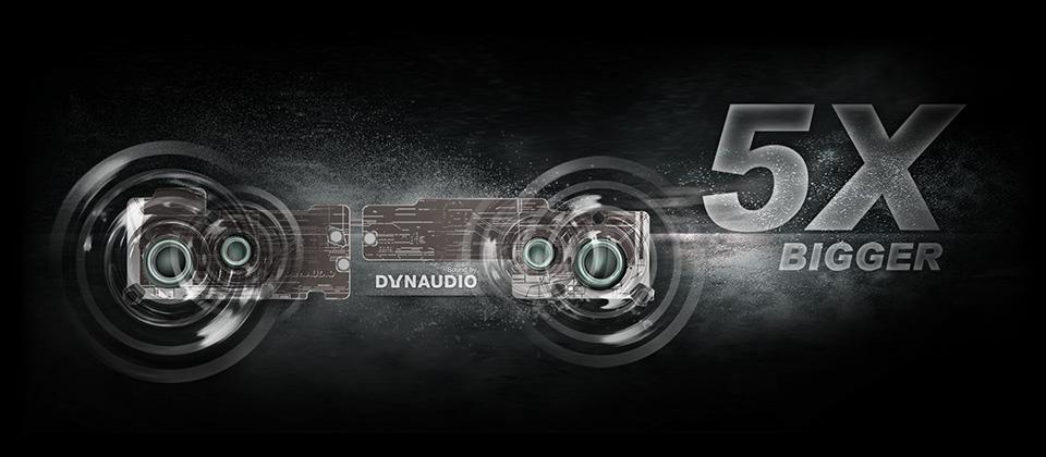 5X BIGGER DYNAUDIO speakers