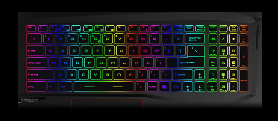 Gigabyte GE75 Raider Gaming Laptop RGB-lit keyboard