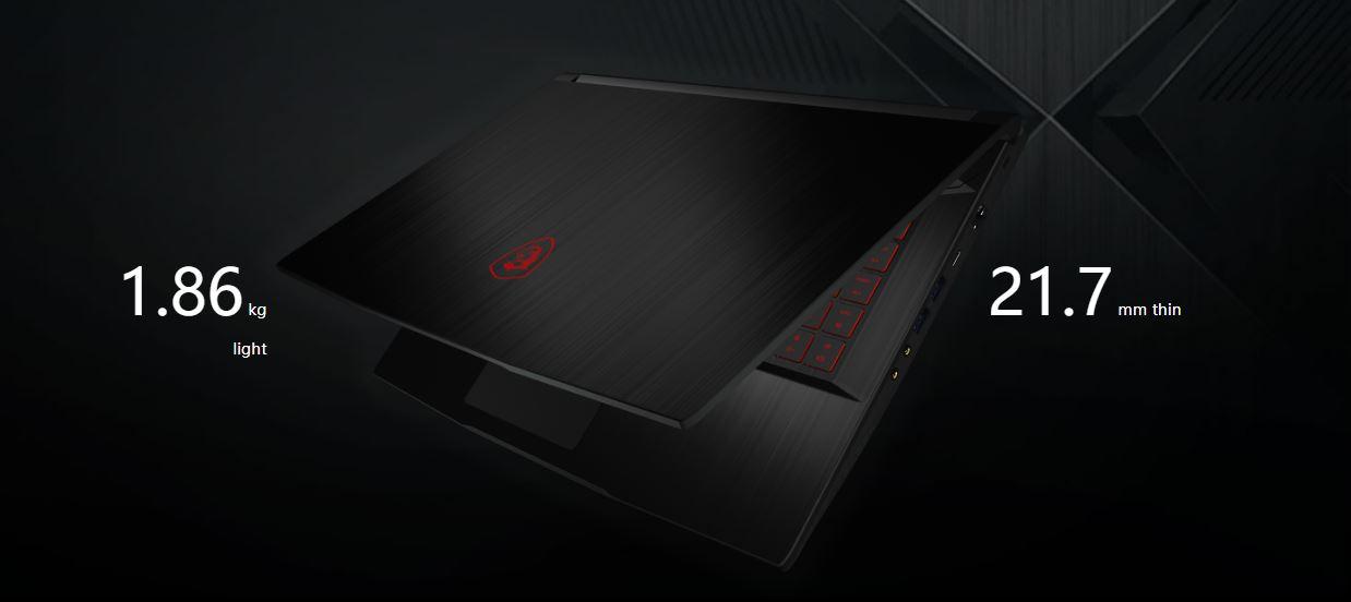 MSI GF63 9SC-060CA Thin Gaming Laptop Intel Core i5-9300H 2 40 GHz 15 6