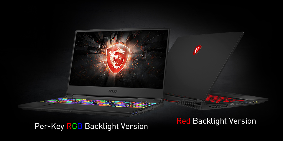 Two Angles of View Show RGB Backlit and Red Backlit Keyboard